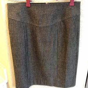 Tweed gray pencil skirt